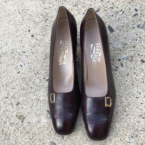Salvatore Ferragamo Eggplant Shoes